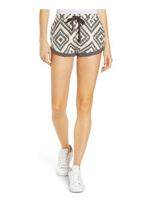 Free People FP Movement where the wind blows jacquard shorts