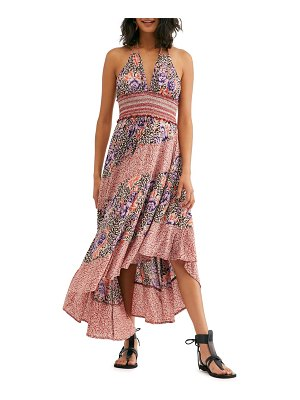 Free People gabriella halter midi dress