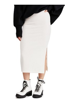 Free People helen ribbed tube midi skirt