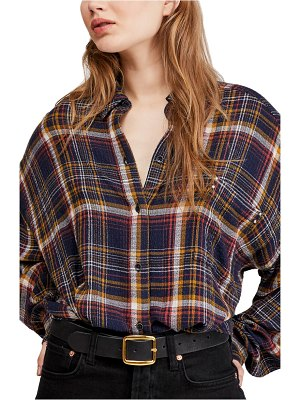 Free People hidden valley woven plaid shirt