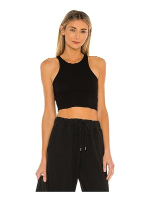 Free People high neck ribbed crop top