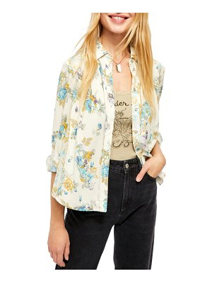 Free People hold on to me floral long sleeve blouse