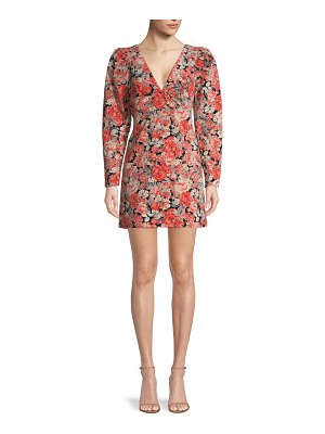 Free People Kapowski Floral Puff-Sleeve Mini Dress