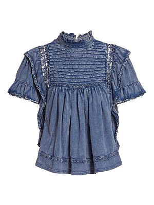 Free People le femme chambray top