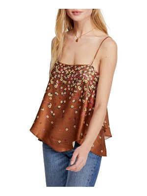 Free People let me love floral print satin camisole