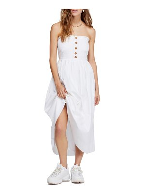 Free People lilah strapless midi dress