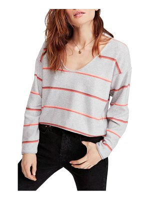 Free People make you mine stripe sweater