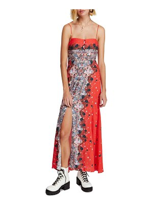 Free People morning song print maxi dress