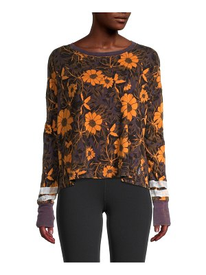 FREE PEOPLE MOVEMENT Floral-Print Cotton Top