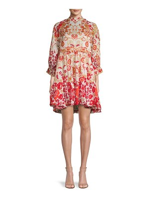 Free People Nouveau Printed Mini Dress