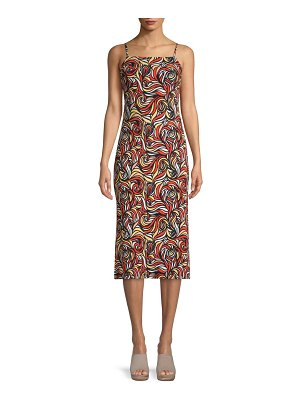Free People Printed Midi Dress