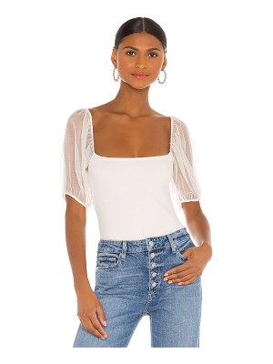 Free People puff sleeve cami