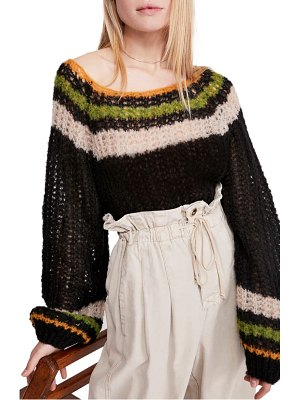 Free People reach for the stars wide neck sweater