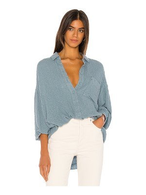 Free People solid hidden valley buttondown