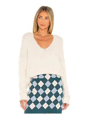 Free People theo v neck sweater