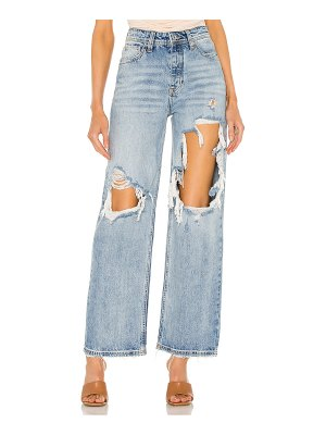 Free People thrift store straight leg jean