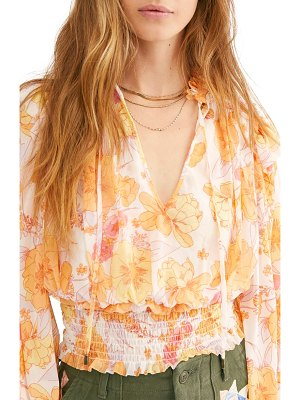 Free People twilight floral top