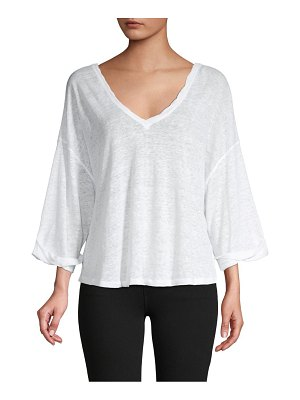 Free People V-Neck Linen Top