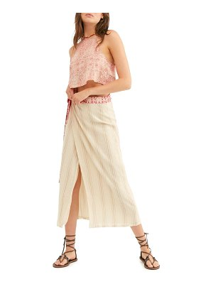 Free People wrapped around you crop top & midi skirt