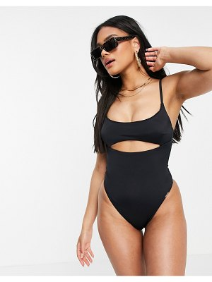 Free Society cut out swimsuit in black