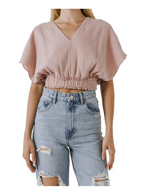FREE THE ROSES cotton crop top