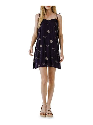 FREE THE ROSES embroidered flowy minidress