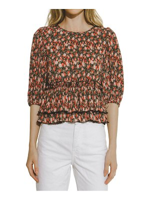 FREE THE ROSES floral pleated top