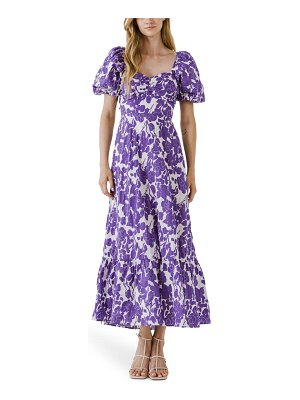 FREE THE ROSES floral print cotton maxi dress