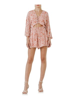 FREE THE ROSES floral tie front romper