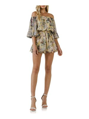 FREE THE ROSES flowy floral off the shoulder romper