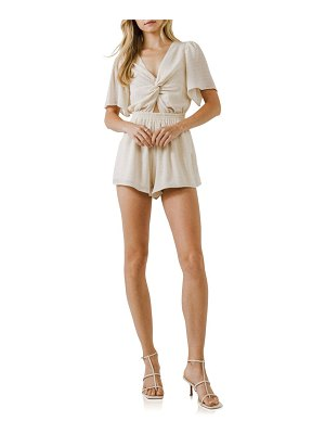 FREE THE ROSES knot front romper