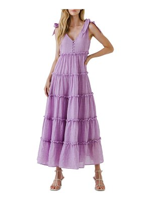 FREE THE ROSES tiered maxi dress