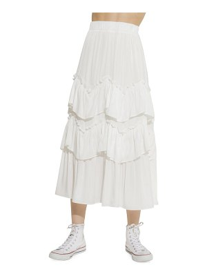 FREE THE ROSES tiered ruffle skirt