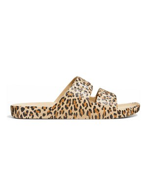 Freedom Moses Animal-Print Faux Dual-Buckle Slide Sandals