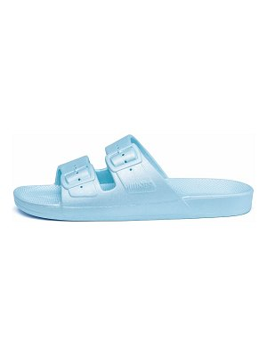 Freedom Moses astral metallic two-strap slides