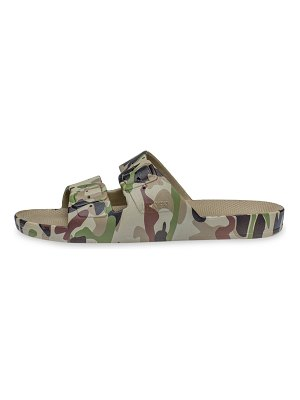 Freedom Moses camo-print two-strap slides