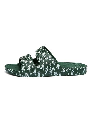 Freedom Moses lily rose amazonia floral-print two-strap slides