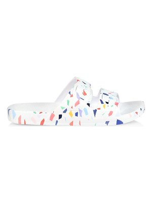 Freedom Moses terrazzo two-strap slides