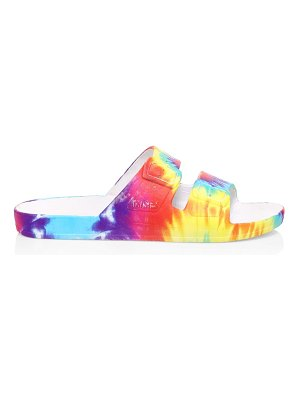 Freedom Moses tie-dye two-strap slides
