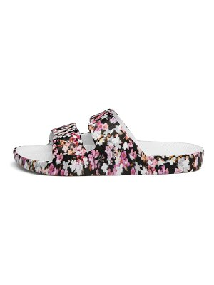 Freedom Moses true romance floral-print two-strap slides
