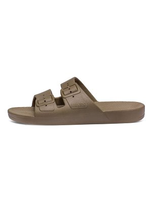 Freedom Moses turtle two-strap slide sandals