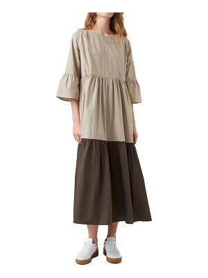 French Connection arallana organic cotton tiered dress