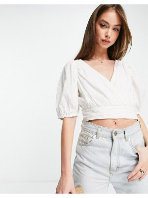 French Connection boiella crop top in white