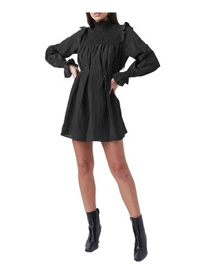 French Connection boza smock detail long sleeve dress