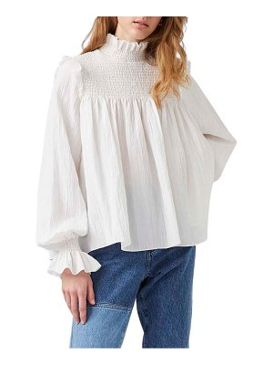 French Connection boza smock neck long sleeve top