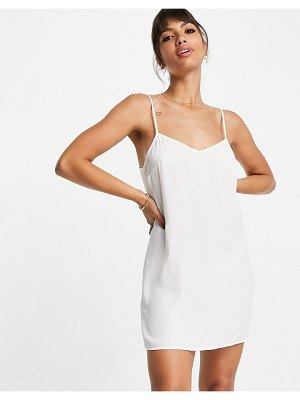 French Connection cabrera lace mini dress in white