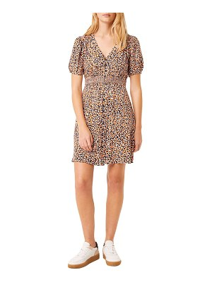 French Connection cade button front minidress