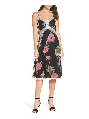 French Connection edith satin burnout slipdress