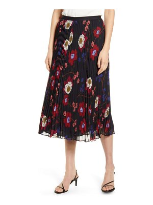 French Connection eloise pleated midi skirt