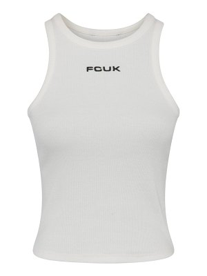 French Connection fcuk crop rib jersey tank